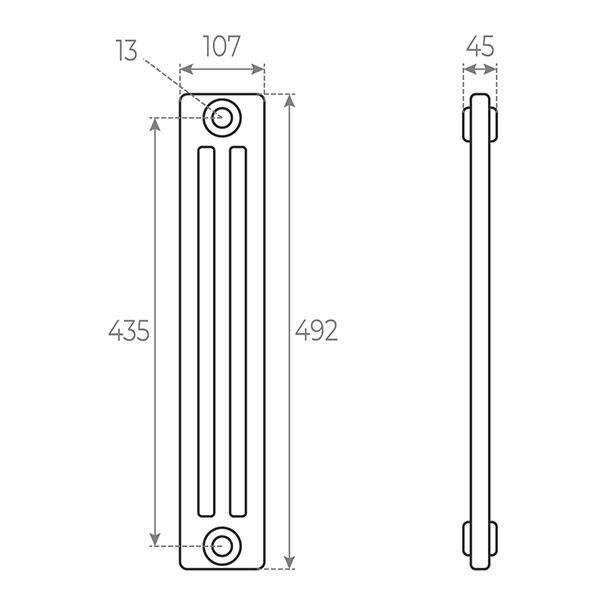 schema radiateur acier tubulaire 492 3