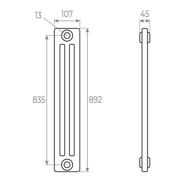 schema radiateur acier tubulaire 892 3