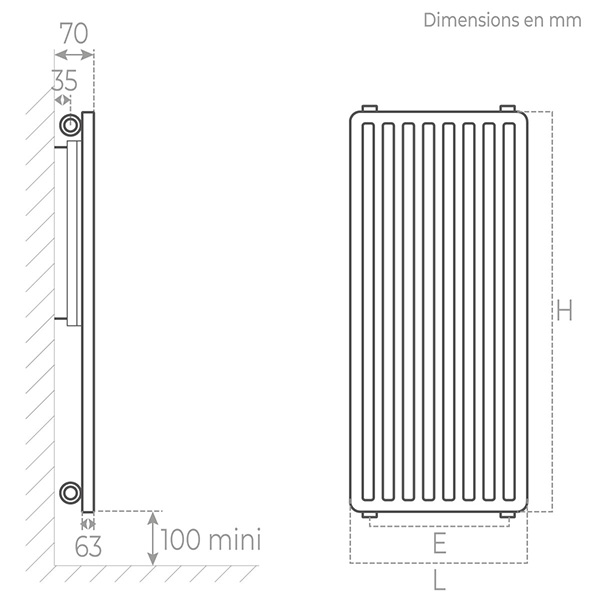 schema radiateur acier vertical 10