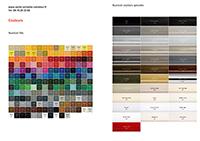 nuancier de couleurs du radiateur design