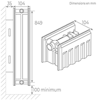 schema radiateur acier 22900
