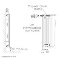 schema radiateur acier robinneterie 11600