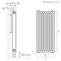 schema radiateur acier vertical 22