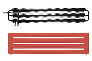 radiateur horizontal design