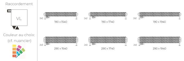 schéma du radiateur design horizontal