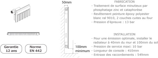 schema du radiateur acier en stockage