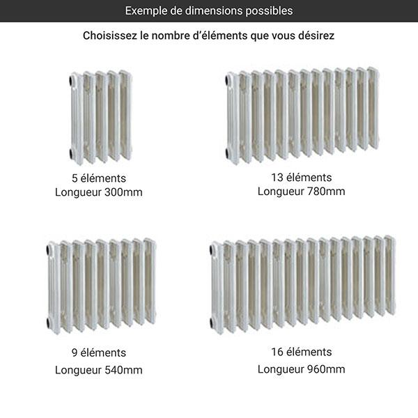 gamme radiateur fonte colonnes 425