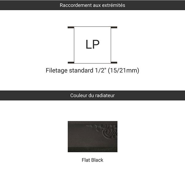 raccordement flat black lp
