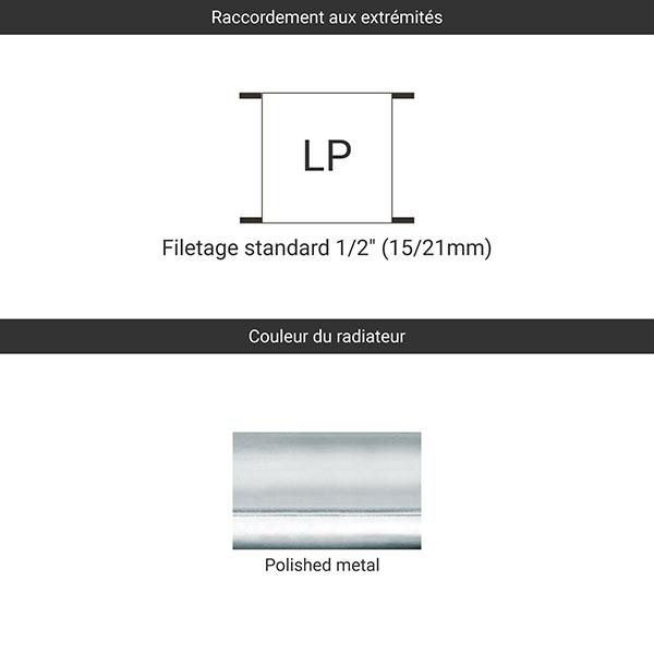 raccordement polished metal lp