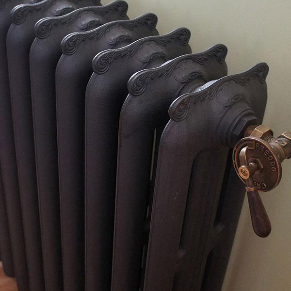 radiateur fonte lisse haut