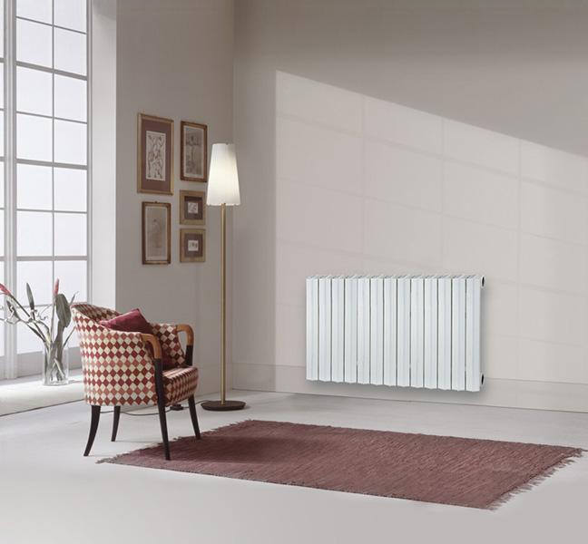 radiateur fonte rideau mise en situation