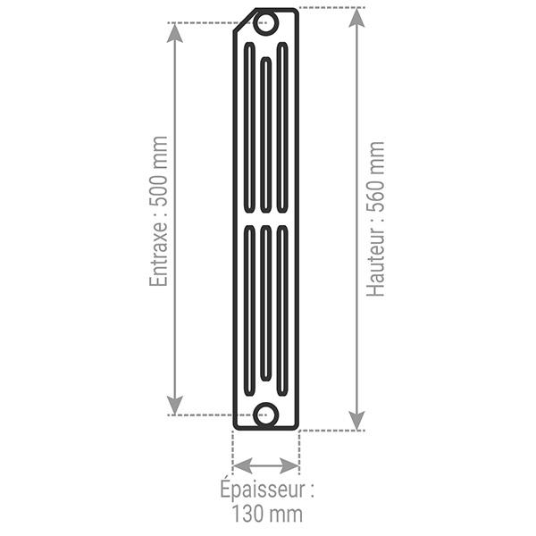 radiateur fonte a rideau 4 colonnes hauteur 560mm. Black Bedroom Furniture Sets. Home Design Ideas
