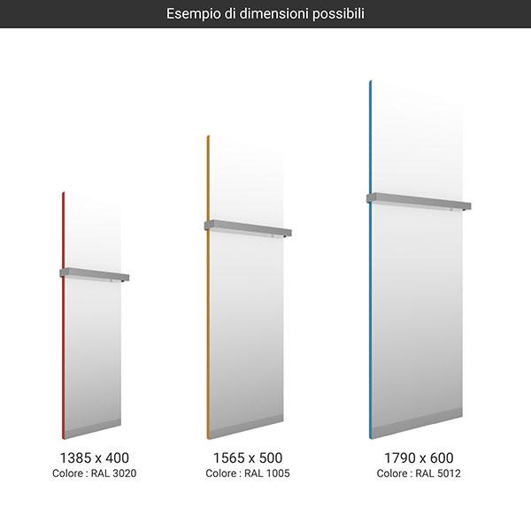 gamma scaldasalviette specchio case slim colore