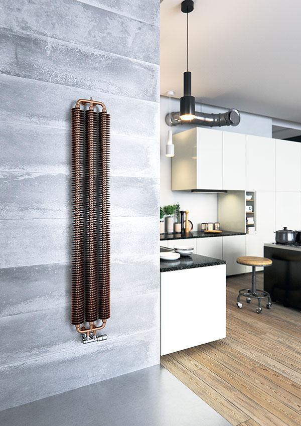 radiateur acier ribbon v marron