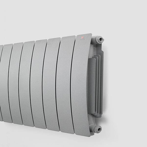 radiatore design orizzontale camber dettagli