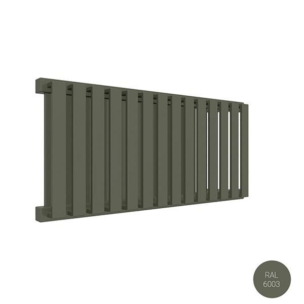 radiatore orizzontale ral6003 nemoyl