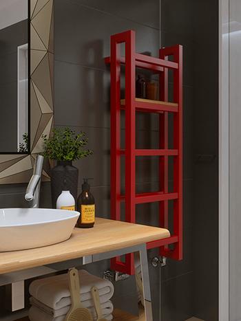 radiatore stand bagno rosso