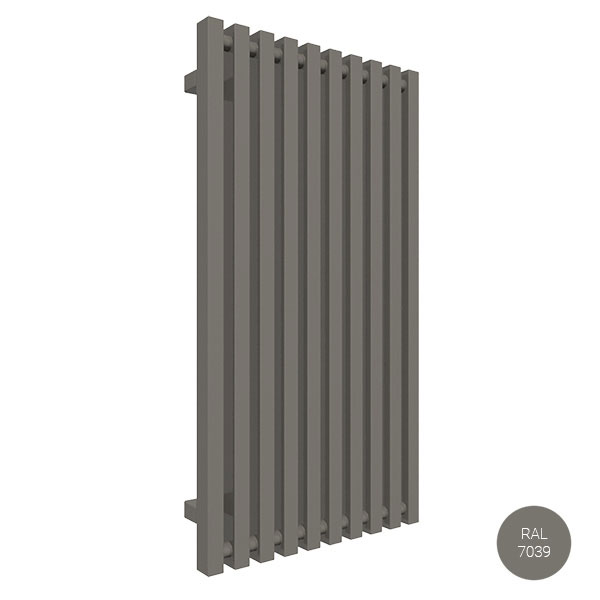 radiatore verticale ral7039 trigazx