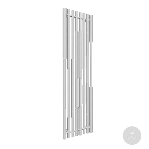radiatore verticale ral7047 canezx