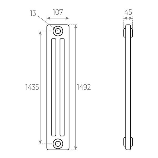schema radiatore tubolare 1492 3