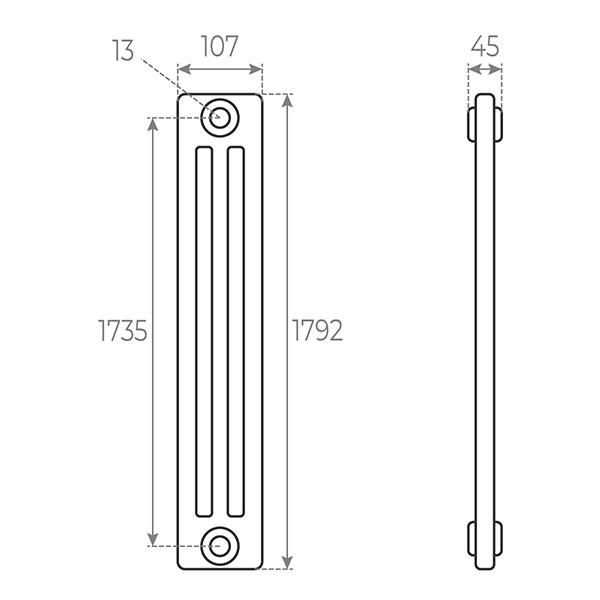 schema radiatore tubolare 1792 3