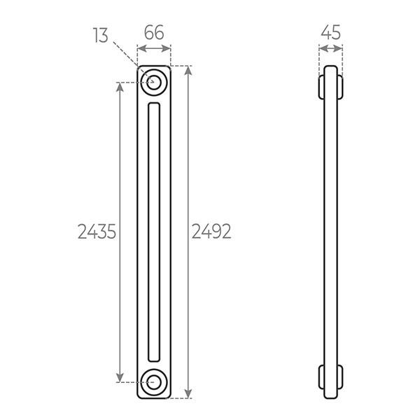 schema radiatore tubolare 2492 2