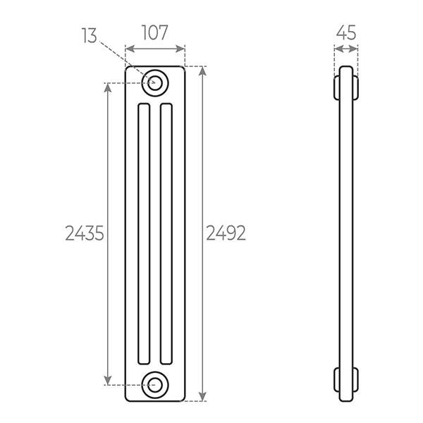 schema radiatore tubolare 2492 3