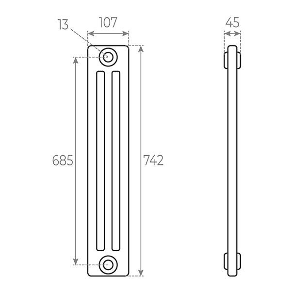 schema radiatore tubolare 742 3
