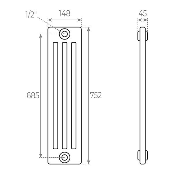 schema radiatore tubolare 742 4