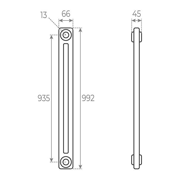 schema radiatore tubolare 992 2