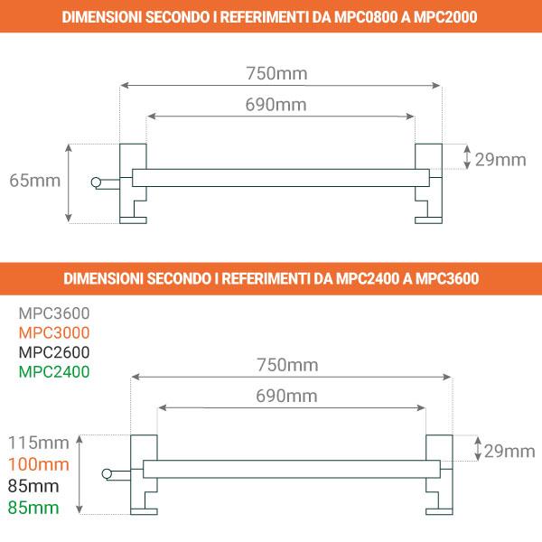 dimensioni rampa da carico mpc 750