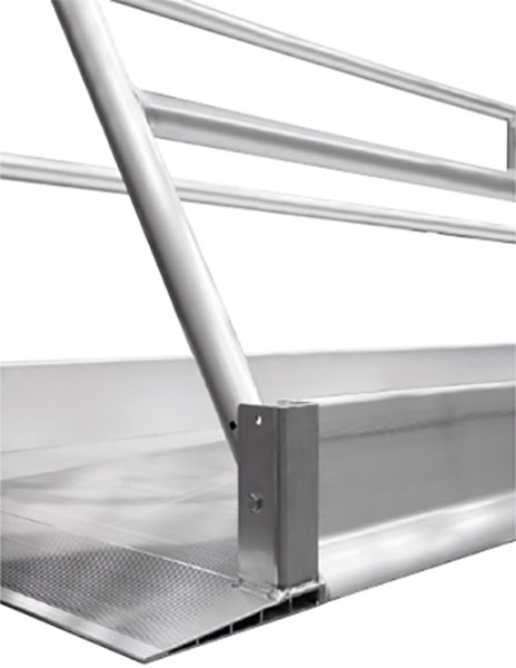 piegare rampa accesso pedoni