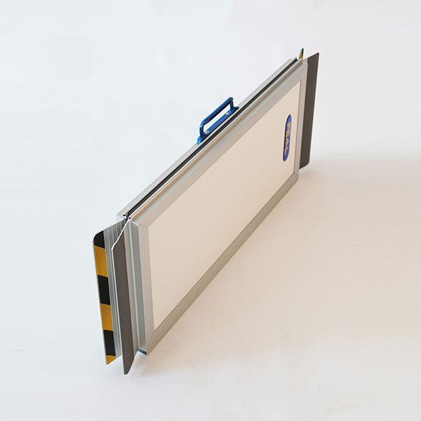 rampa alluminio accesso pmr RDPF701 piegata