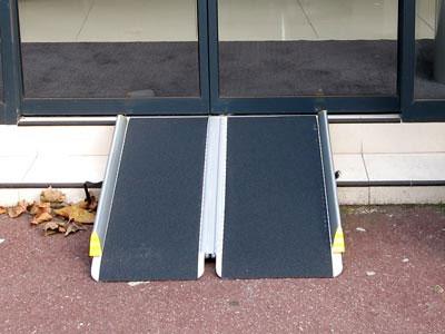 rampa per disabili pieghevole