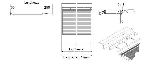 schema della rampa per banchina