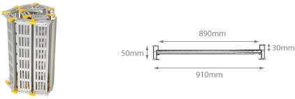 schema della rampa da carico per quad