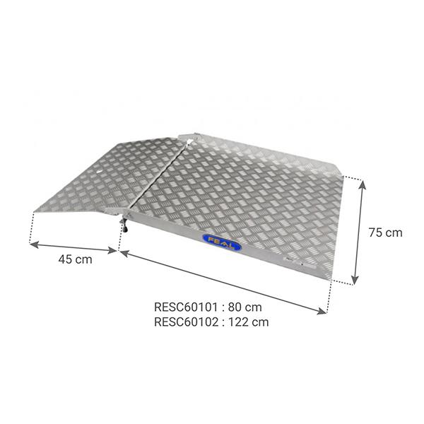 dimensions rampe passe porte pmr RESC60100
