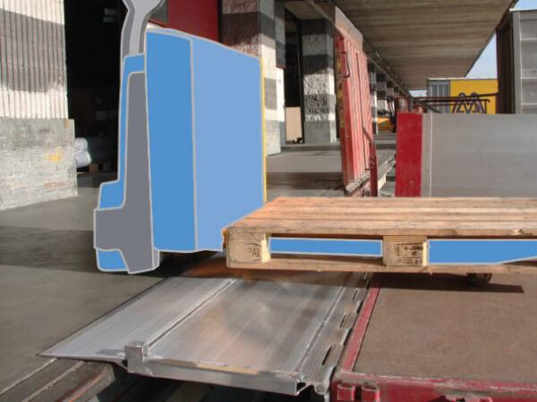 rampe de quai en acier plaque de liaison entre votre. Black Bedroom Furniture Sets. Home Design Ideas