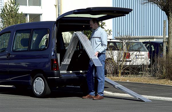 rampe de chargement pliante 200mm voiture