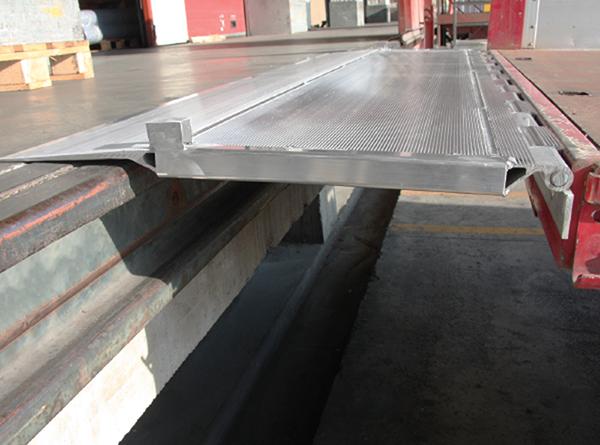 rampe de quai aluminium