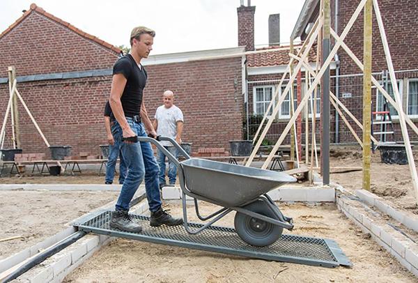 rampe grillagee chantier