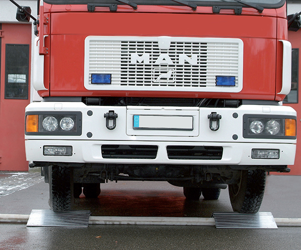 rampe passage camion