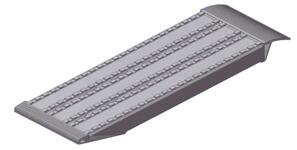 Rampes de chargement pour engins avec chenilles en fer