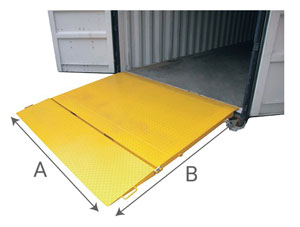 Rampe pour container