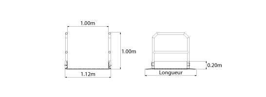 schema rampe acces pietons