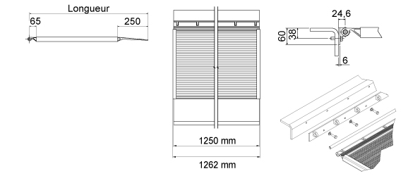 Schéma de la rampe de quai en acier