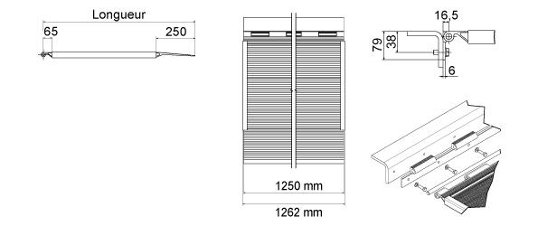 Schéma de la rampe de quai en aluminium