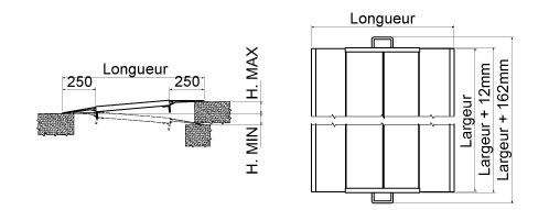 Schéma de la rampe de quai