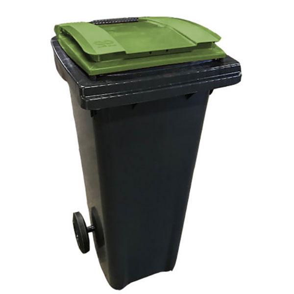 conteneur 140L couvercle vert kaki