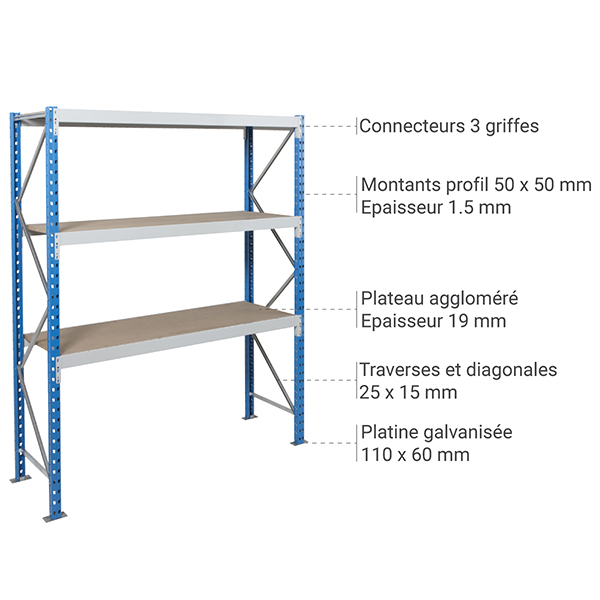 details rayonnage assemblable EPSI